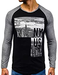 BOLF – Sweat-shirt – Manches longues – U-neck – Homme