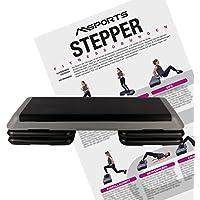 Steppbrett Professional inkl. Übungsposter | 3 - Fach höhenverstellbar Studio Stepper
