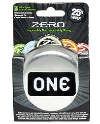 Paradise marketing ONE Zero Thin Condoms - Box of 3