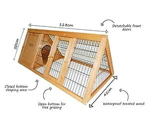 bentley pets kleintierauslauf f r kaninchen und meerschweinchen tragbar dreieckig aus. Black Bedroom Furniture Sets. Home Design Ideas