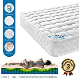 HomyLink Double Mattress Pocket Sprung 3D Breathable Knitting Fabric Memory Foam Mattresses 22CM