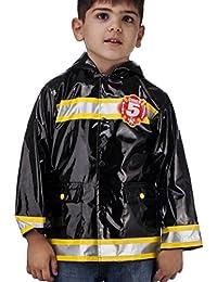 Little Boy's Black Fire Chief Raincoat