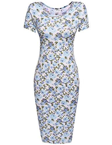 HOTOUCH Damen Etuikleid Vintage Kleid CocktailkleidMidikleid Bleistift Kleid Rockabilly Kleid...