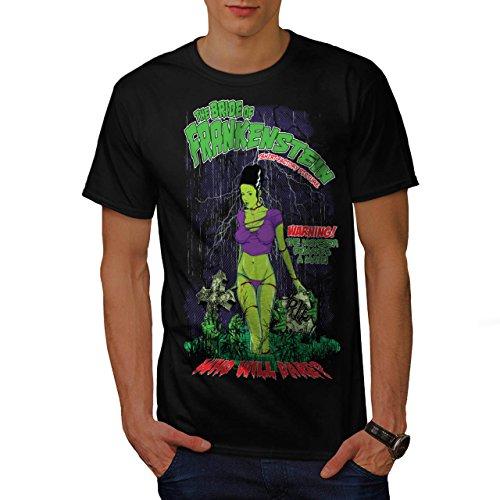 Frankenstein Braut Monster Kamerad Herren M T-shirt | (Kostüm Mitternacht Braut)
