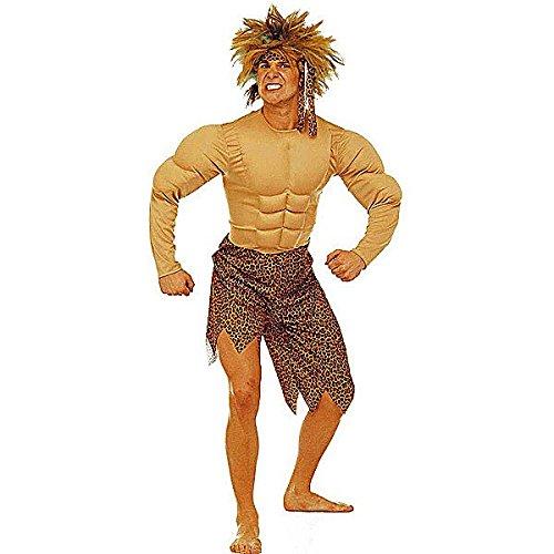 Widmann 32712 - Dschungel-Mensch - Kostüm für Herren, Größe (Kind Muskel Mann Kostüm)
