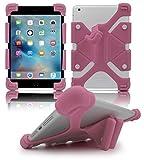 Housse universelle en silicone pour gel pour tablet 8.9 '- 12' - Convient aussi pour Samsung Galaxy Tab A 10.1, Fire HD 10, iPad Air Pro 10.5 Air 2, iPad 9.7 2017, Acer Iconia One B3-830, Asus Zenpad 10 - Bébé rose