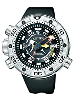 Citizen Promaster Marine - Eco-Drive Aqualand - Reloj de cuarzo para hombre, con correa de goma, color negro de Citizen