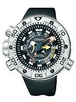 Citizen Herren-Armbanduhr XL Promaster Marine - Eco-Drive Aqualand Analog Quarz Kautschuk BN2021-03E