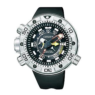 Citizen Promaster Marine – Eco-Drive Aqualand – Reloj de Cuarzo para Hombre, con Correa de Goma, Color Negro