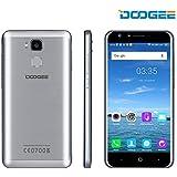 """DOOGEE Y6 5.5"""" HD Sharp Écran 4G+ Smartphone 1280*720 8MP Caméra Frontale Avec Flash 2GB + 16GB Android 6.0 MTK6750 Octa-Core Processeur 360°D'empreinte Digitale Débloqué(Argent)"""