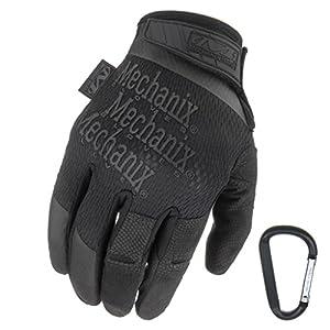 MECHANIX WEAR Specialty High Dexterity 0.5mm 2017, Taktische Einsatz-Handschuhe, atmungsaktiv & ergomisch + Gear-Karabiner, Schwarz, Coyote/Größe S, M, L, XL (S, Coyote)