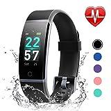 LETSCOM Fitness Armband mit Pulsmesser, Fitness Tracker IP68 Wasserdicht 0,96 Zoll Farbbildschirm Aktivitätstracker
