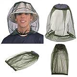 KINIVA Mosquito Máscara - mosquitera Protección de Cara y Cuello - Anti Mosquito Anti-Mordedura Antiinsectos, Aceituna (2 Paquetes)