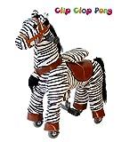 Neue Baby Kind Kinder Kleinkind Zebra Clip Clop Pony TM Ride/Cycle Modus Schaukelpferd–Kleine |finest Qualität von Royal Kiddy + Tragkraft bis 35kg