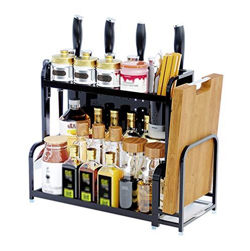 891c0ff29107 Storage rack. Estante de Cocina, Estante de condimentos de Varias Capas,  portacuchillas colgado en la Pared, Utensilios de Cocina, Dos Pisos