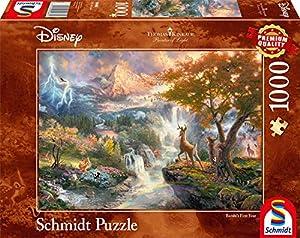Schmidt Spiele Puzzle 59486Thomas Kinkade, Disney Bambi, 1000Piezas