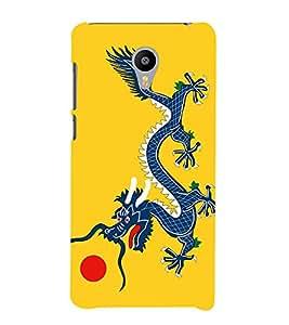 Fiobs Designer Phone Back Case Cover Meizu M3 ( Chinese Dragon Art Tattoo )
