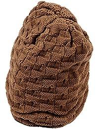 SODIAL(R) Men Knit Beanie Reversible Baggy Cap Skull Chunky Winter Hat X085 - Khaki