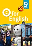 E for English 5e (éd. 2017) – Livre