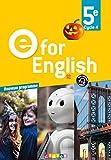 E for English 5e (éd. 2017) Livre
