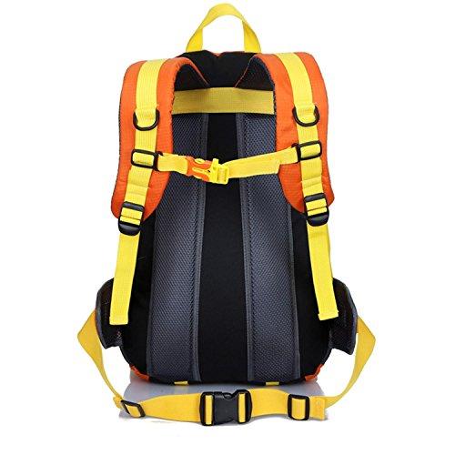 Sacchetto di alpinismo HWJF 40L borsa impermeabile del sacchetto di corsa del nylon dello zaino di svago delle spalle delle spalle , Orange yellow Orange yellow