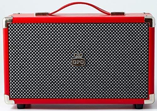 GPO Retro Westwood Altavoz 25 W Rojo - Altavoces (Inalámbrico y alámbrico, Bluetooth/RCA/3.5mm, 25 W, Rojo)