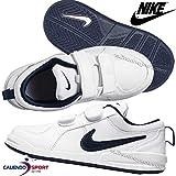 Nike Pico 4 Zapatillas para niño, 33 EU (1.5Y US), Blanco / Azul marino