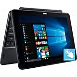 "Flagship Acer 10.1"" HD IPS 2-in-1 Touchscreen Detachable Business Laptop, Intel Atom Quad-Core X5-Z8350 Up To 1.92GHz, 2GB DDR3, 32GB SSD, Intel HD Graphics 400, Bluetooth, HDMI, Win 10, Black"