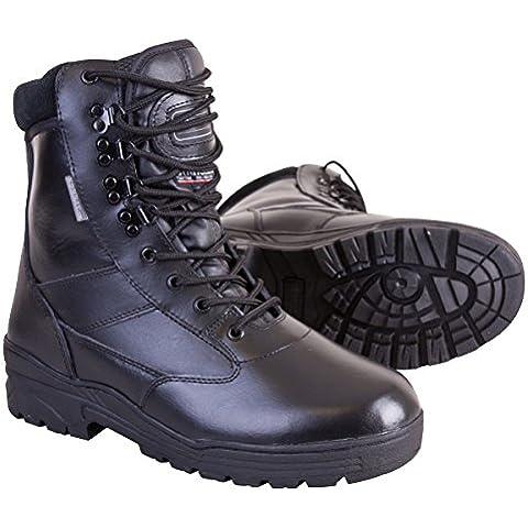 Kombat UK-Stivali in pelle con Patrol, misura 3, colore: nero