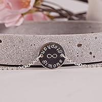Für immer... Silberarmband mit Gravur, Namensarmband, Armband mit Gravur, personalisiertes Armband, Armband mit Namensgravur, 925er Silber