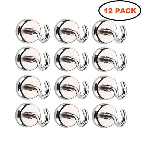 12 Bad Bomben (Magnet Haken,Magnete mit Haken, Magnethaken,Super Starker Neodym Magnetischer Haken Einsatzbereich Küche Badezimmer Schlafzimmer Garage Schließfächer Büro Kühlschrankmagnet Schlüsselhalter (12 Stück))