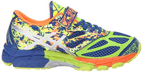 Asics Gel-Noosa Tri 10 PS GR Cuir Baskets Blue-Lightning-Flash Yellow