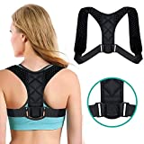 Posture Corrector for Women and Men, ARINO Adjustable Posture Brace Comfortable Upper Back Brace Physical Posture Therapy Upper Body Braces to Improve Bad Posture- Back Shoulder Neck Pain Relief
