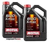 MOTUL Duo Lubricante Motor 8100 X-MAX 0W-40, 10 litros (2x5 LTS)