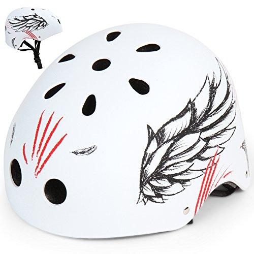 Infantastic Kinderfahrradhelm Kinder-und Jugendlichen Fahrradhelm in Farbe und Design Ihrer Wahl (wings, L)