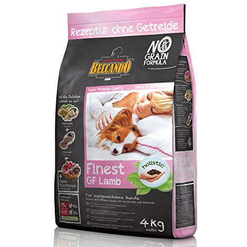 Belcando Finest GF Lamb [4 kg] getreidefreies Hundefutter | Trockenfutter für kleine & mittlere Hunde | Alleinfuttermittel für Hunde ab 1 Jahr