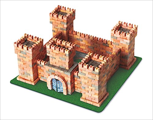 WISE ELK Toy Dragon's Castle Construction Set, Real Ceramic Bricks, Gypsum Reusable Building Kit, 1080 PCS, Educational Toy, Architecture ,Model Kit ,260X260X140mm Code 70385