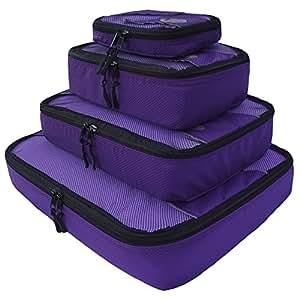 Zpac packing cubes – Organizzatore per la valigia, 4 pezzi (Extra grande, grande, medio, piccolo) (Viola)