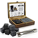 Best Whiskey Stones - Whisky Stones Gift Set, Stylish Wooden Box Includes Review