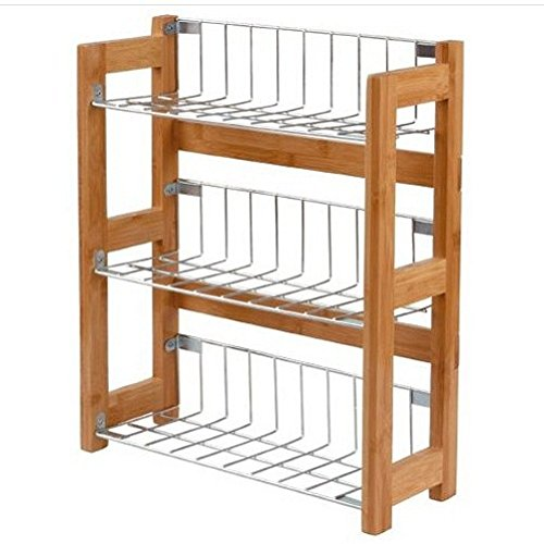 3 Tier Kitchen Spice Jars Rack Holder Shelves Storage Unit Free Standing Bamboo/ Food Eating Furniture Device Stuff Bar Dining Kitchen Restaurant Utensils Equipment Store Shop Cooking Cook Cookware Home House Storage Chef Culinary Items Unique Special Gif