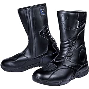 Black Stealth Evo Motorcycle Boots 44 Black (UK10)