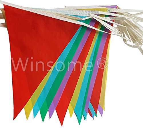winsomer-multi-coloured-pvc-plastic-bunting-banner-10-metre-long-20-flags-plain-pennant-double-sided