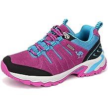 bf79b95b0a303 CAMEL CROWN Zapatos de Senderismo para Mujer Zapatillas de Escalada Calzado  de Ante para Alpinismo