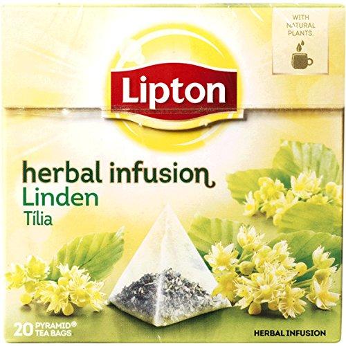 Lipton LINDEN (Tiglio) busta (piramide) tè confezione da 20 x 6 scatole - Lipton Bustine Di Tè