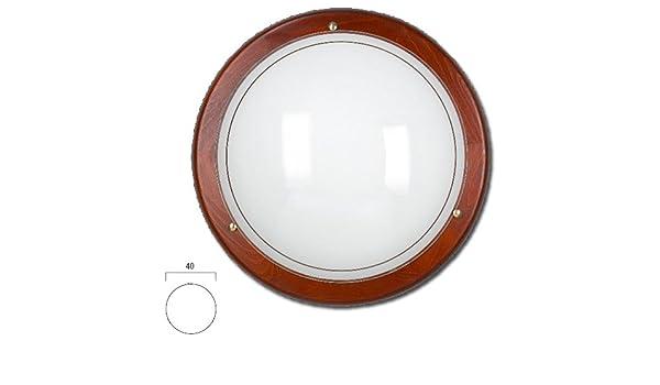 Plafoniere Con Bordo In Legno : Lampada da soffitto plafoniera classico con bordo in legno: amazon