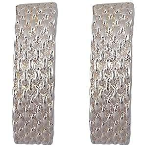 Bejewel Wire Mesh Earrings