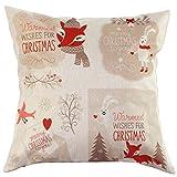 LHWY Vintage Weihnachten Sofa Bett Home Decor Kissen Fall Kissenhülle