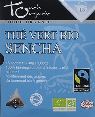 Touch Organic Thé Vert Sencha 15 Sachets 30 g - Pack de 6
