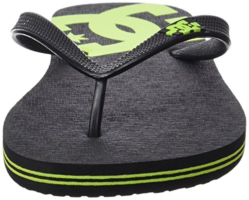 DC Shoes Herren Spray Zehentrenner Schwarz (Black/Lime)