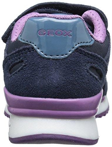 Geox J Maisie Girl, baskets sportives fille Bleu - Blau (C4021DK NAVY)